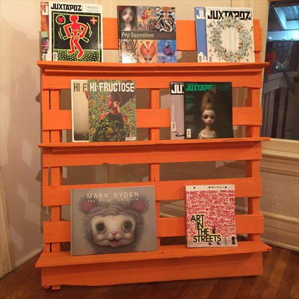 Very Easy Diy Bookshelf Pallet With Plans And Instructions