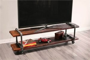 Staggering diy tv stand pinterest #DIYTVStand #TVStandIdeas #WoodenTVStand