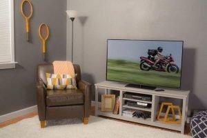 Terrific diy rolling tv stand #DIYTVStand #TVStandIdeas #WoodenTVStand