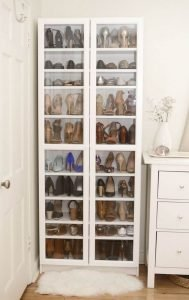 Awesome hanging shoe rack #shoestorageideas #shoerack #shoeorganizer
