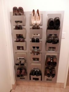 Brilliant entryway shoe bench #shoestorageideas #shoerack #shoeorganizer