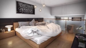 Striking room ideas for attic bedrooms #atticbedroomideas #atticroomideas #loftbedroomideas