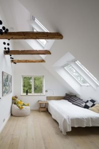 Awesome cozy attic bedroom ideas #atticbedroomideas #atticroomideas #loftbedroomideas