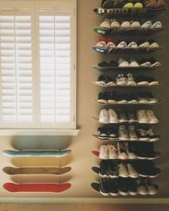 Life-changing wooden shoe rack #shoestorageideas #shoerack #shoeorganizer