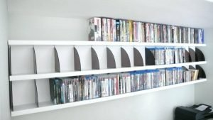 Striking entertainment center ideas #dvdstorageideas #cddvdstorage #dvdrack