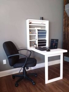 Staggering office desk #diycomputerdesk #computerdeskorganization #computertable